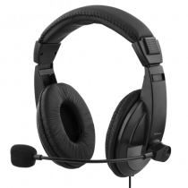 Headphone DELTACO with microphone, 96dB, black / HL-57