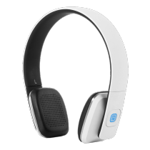 Headphones STREETZ Bluetooth, white / HL-578