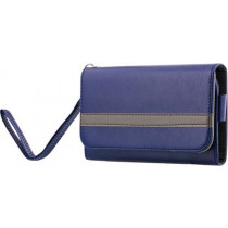 Wallet case STREETZ, blue /  IP6-936