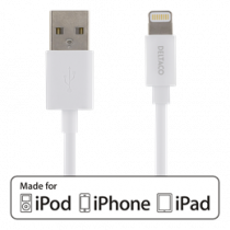 Lighting cable DELTACO MFI, USB Type-A ma - Lightning ma, 0.5 m, white / IPLH-162