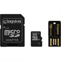 Memory card, microSDHC, 16GB , micro Secure Digital High Capactiy, USB memory card reader, SDHC adapter, Class 10 - (MBLY10G2 / 16GB) KINGSTON / KING-0585