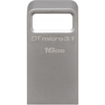 DataTraveler Micro 3.1 - USB 3.1 memory with 16GB storage space, Gen 1, 100MB / s , metal, silver KINGSTON / KING-1909