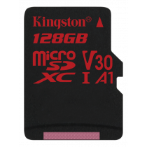 Kingston Canvas React microSDXC card, 128GB, black SDCR/128GBSP / KING-2608