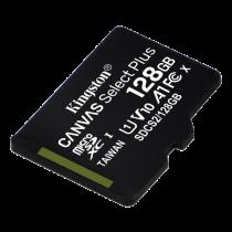 Kingston Canvas Select Plus MicroSDXC, 128GB, Class 10 UHS-I, black / KING-2974