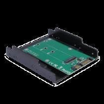 """M.2 for SATA adapter, 3.5 """"cassette, 22pin DELTACOIMP green / KT001B"""