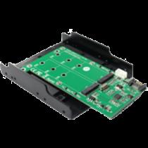"""Dual M.2 SATA for SATA, 3.5 """"mounting, NGFF DELTACOIMP green / KT022B"""