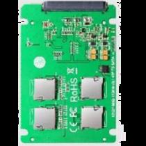 4x Micro SD card to SATA expansion card, RAID 0 support, 22pin SATA DELTACOIMP green / KT037B