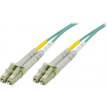 DELTACO fiber cabling, LC - LC , 50/125, OM3, duplex, multimode, 7m   LCLC-67