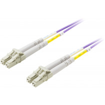 Fiber cable DELTACO LC - LC, 50/125, OM4, duplex, multimode, 1m / LCLC-701