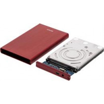 "DELTACO external enclosure for 1x2.5 ""SATA HD, SATA 6Gb / s , USB 3.0, aluminum / plastic, red MAP-GD30U3"