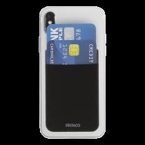 DELTACO Credit card holder for smartphones, 3M glue, black / MCASE-CH001