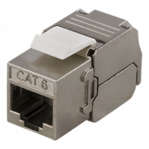 FTP Cat6 keystone connector, shielded, 22-26AWG DELTACO / MD-108