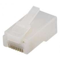Industry rated RJ45 connector, Cat6, UTP, 20-pack DELTACO white / MD-113