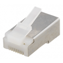 RJ45 connector, Cat6, FTP, 20-pack DELTACO white / MD-114