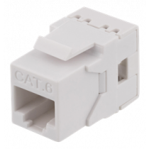 Cat6 Keystone jack, LSA/110 termination, plastic, 180 DELTACO white / MD-118