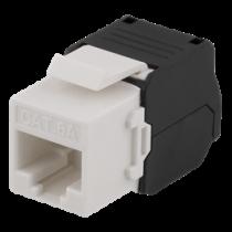 Cat6A Keystone socket, tool-free clip termination, plastic DELTACO white / MD-120
