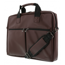 "DELTACO notebook bag, for 15.6"" laptops, 6 pockets, brown / NV-795"