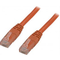 Cable DELTACO U / UTP Cat5e 0.5 / OR05-TP, orange / OR05-TP