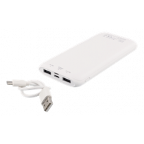 Power Bank DELTACO 10 000 mAh, 2,1A, USB-C, Li-Po, white / PB-1065