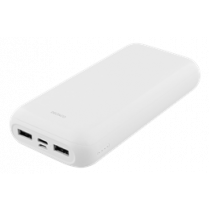 Power bank DELTACO 20 000 mAh, USB-C, 2x USB-A, 2.1A, LED indicator, white / PB-1066
