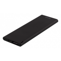 DELTACO Slim pocket size Powerbank, 3600 mAh, 7mm, 2.1A, USB-A, black / PB-3600B