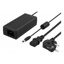 DELTACO AC Adapter, 100-240V AC 50 / 60Hz to 12V DC, 5A, 1.2 + 1.2m, Blac / PS12-50A