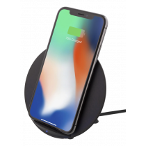 DELTACO Wireless Fast-charger for iPhone and Android, 10W, QI Certifie / qi-1027