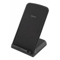 Desktop fast charger, angled stand, 10W, Qi 1.2.4 DELTACO black / QI-1029