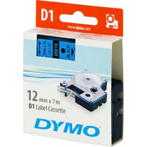 Tape DYMO D1 12mm x 7m, vinyl, black on blue / S0720560 45016