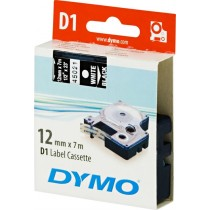 Tape DYMO D1 12mm x 7m, vinyl, white on black / S0720610 45021