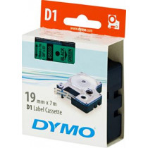 D1, brand tape, 19mm, black text on green tape, 7m - 45800 DYMO / S0720890