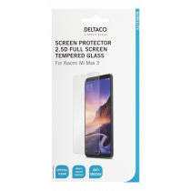 DELTACO screen protector for Xiaomi Mi Max 3, 2.5D glass, full screen / SCRN-1030