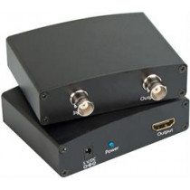 Signal Converter from HD-SDI to HDMI, BNC, with SDI Loop Out function, black / SDI-1000