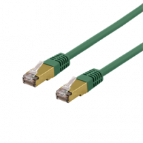 Cable DELTACO, UTP, 10m, CAT6a, green / SFTP 610GAH