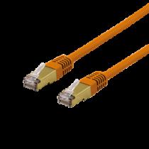 Cable DELTACO UTP, 10m, CAT6a, orange / SFTP 610ORAH