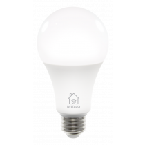DELTACO SMART HOME LED lamp, E27, WiFI 2.4GHz, 9W, 810lm, dimmable, 2700K-6500K, 220-240V, white  SH-LE27W