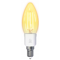 DELTACO SMART HOME LED filament lamp, E14, WiFI 2.4GHz, 4.5W, 400lm, dimmable, 1800K-6500K, 220-240V, white SH-LFE14C35