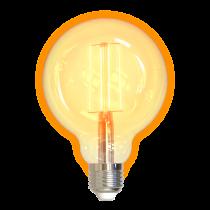 DELTACO SMART HOME LED filament lamp, E27, WiFI 2.4GHz, 5.5W, 470lm, dimmable, 1800K-6500K, 220-240V, white  SH-LFE27G95