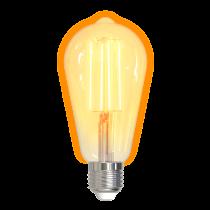 LED filament lamp DELTACO SMART HOME E27, WiFI 2.4GHz, 5.5W, 470lm, 1800K-6500K, 220-240V, white / SH-LFE27ST64