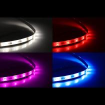 DELTACO SMART HOME LED strip extension, 1m, RGB, 2700K-6500K, 6-pin, fits SH-LS3M, white SH-LSEX1M
