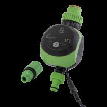 DELTACO SMART HOME smart water control, WiFi 2.4GHz, IP67, 9V, timer, 2-8 bar, black / green SH-OW01
