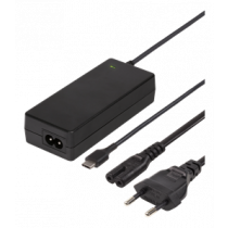 Laptop charger, 45W USB-C, 2m, USB-C PD, black DELTACO / SMP-USBC45PD