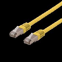 Cable DELTACO U / STP Cat6a, LSZH, 0.5m, yellow / STP-60GLAU