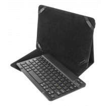 """DELTACO Case and Bluetooth keyboard for 10 """"tablets, Nordic layout , black TB-137"""