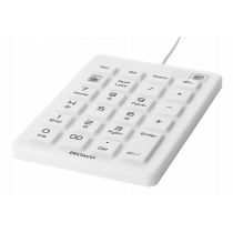 DELTACO numeric keyboard in silicone, IP68, 23 keys, USB cable 1.8m, white / TB-511