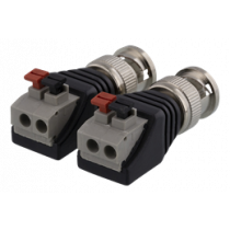 2-pin Terminal block to BNC, 2-Pack, Push button, BNC male DELTACO  black / TBL-1000