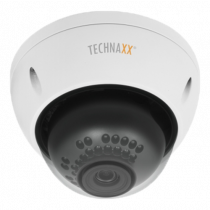 "Outdoor camera Technaxx Dome PRO, FullHD,1/3""3MP, RJ-45, white  TX-66 / TECH-030"