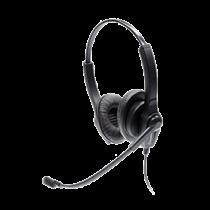 Accutone UB202 Stereo headset, volume control and mute, black UB202