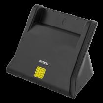 DELTACO UCR-156 Smart card reader, USB, black / UCR-156