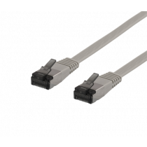 Cable DELTACO Cat6a, 5m, 1.9mm, 500MHz, gray / UFTP-2060